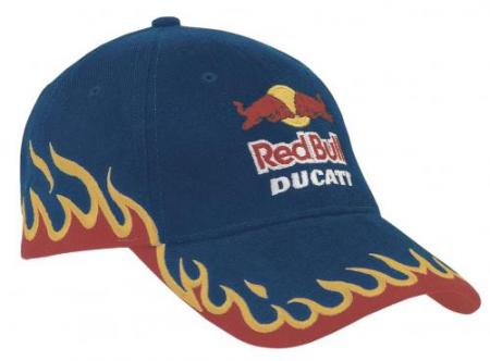 Heavy Brushed Cotton Cap With Edge Flame Embroider