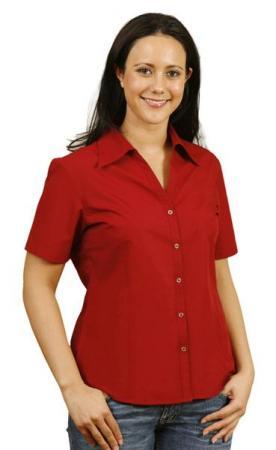 Teflon Ladies Short Sleeve Shirt Size: 6 - 18