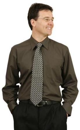 Teflon Mens Long Sleeve Business Shirts Size: S -
