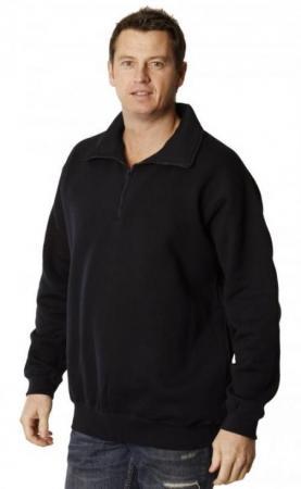 Adults American Style 1 / 2 Collar Fleecy Swea Siz