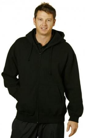Mens Full-zip Fleecy Hoodie Size: S ? 3XL