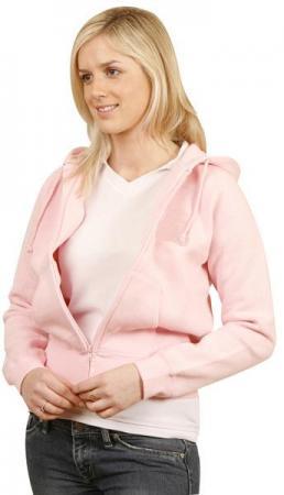 Ladies Full-zip Fleecy Hoodie Size: 8 ? 18