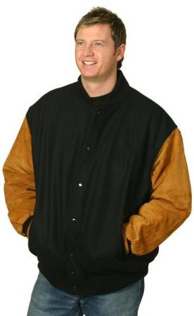 Melton Wool Baseball Jacket With Suede Imitation S