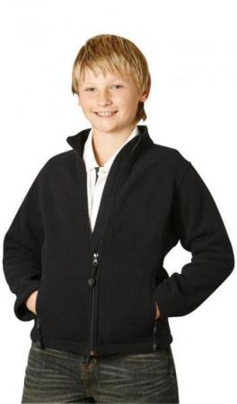 Kids Bonded Polar Fleece Full Zip Fitted Jacket Si
