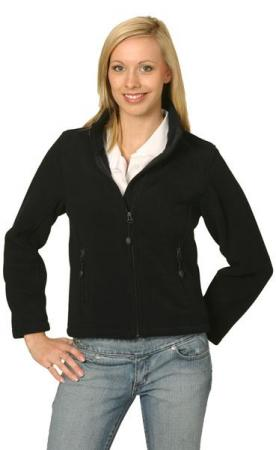 Ladies Bonded Polar Fleece Full Zip Fitted Jacket
