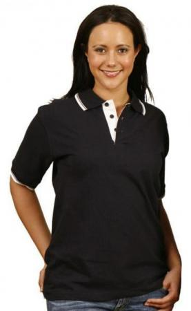 Tipped Cotton Jersey Polo (Unisex) Size: XS - 5XL