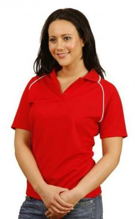Ladies CoolDry Raglan Short Sleeve Contrast Polo S
