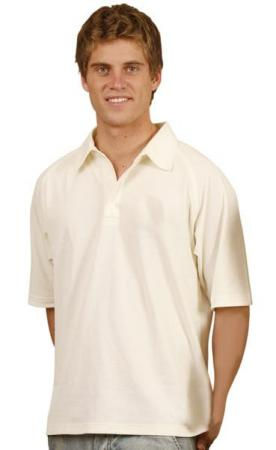 Mens TrueDry Mesh Knit Short Sleeve Cricket Polo S