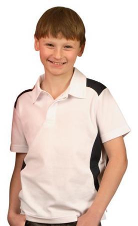 Kids TrueDry Short Sleeve Contrast Polo Size: 4K -