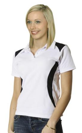 Ladies TrueDry Short Sleeve Contrast Polo Size: 8