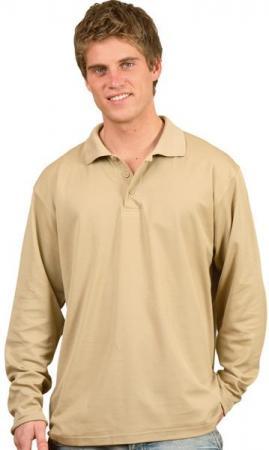 Mens TrueDry Long Sleeve Polo Size: S - 5XL