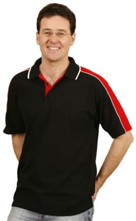 Mens Mini-Waffle Polo Size: S - 5XL