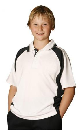 Kids CoolDry Short Sleeve Contrast Polo Size: 6K -