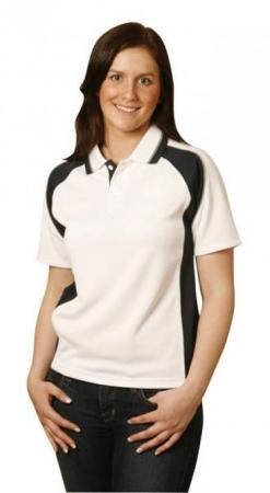 Ladies CoolDry Short Sleeve Contrast Polo Size: 8