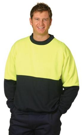 High Visibility Two Tone Crew Neck Safety Windchea