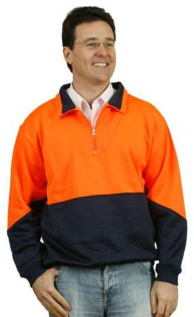 Hi-Vis logn sleeve windcheater with collar Size: S
