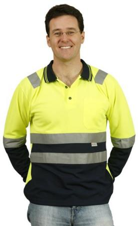 Mens TrueDry Safety Polo With 3M Reflective Tape S