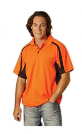 Mens TrueDry Short Sleeve Safety Polo Size: S ? 3X