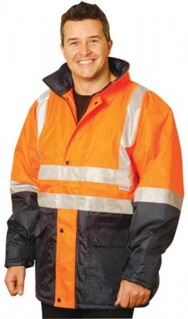 2-Tone Safety Jacket With 3M Reflective Tapes Size
