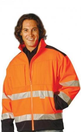 2-Tone Softshell Safety Jacket With 3M Reflective
