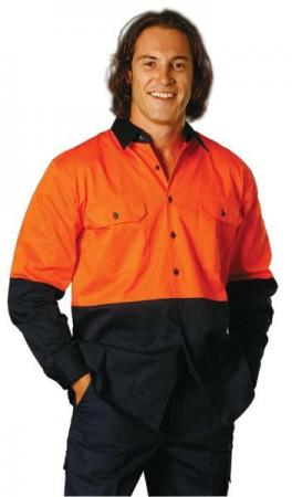 High Visibility Long Sleeve Work Shirts Size: S ?