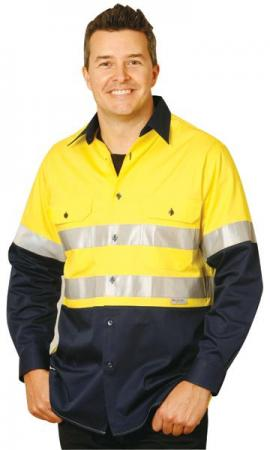 Mens High Visibility Cool-Breeze Cotton Twill Safe