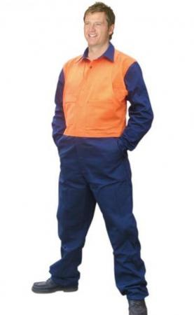 High Visibility Action Back Coverall In Heavy Cott
