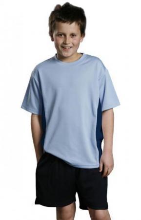 Kids CoolDry Contrast Tee Size: 6K - 14K