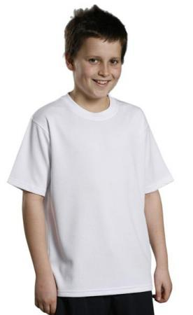 Kids CoolDry Mesh Knitted Tee Size: 6K - 14K