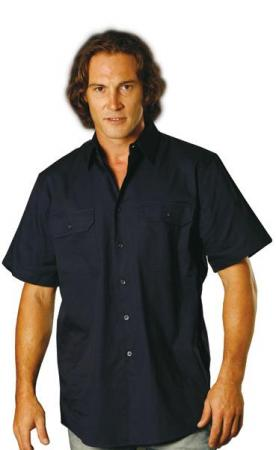 Cool-Breeze Cotton Short Sleeve Work Shirt Size: S