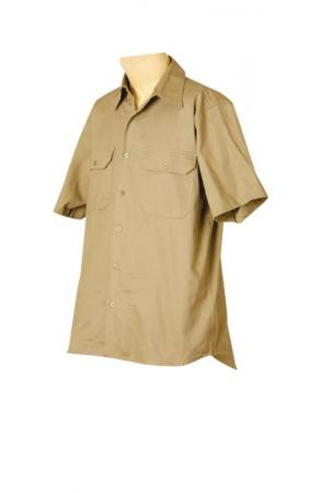 Cotton Drill Short Sleeve Work Shirt Size: S ? 3XL