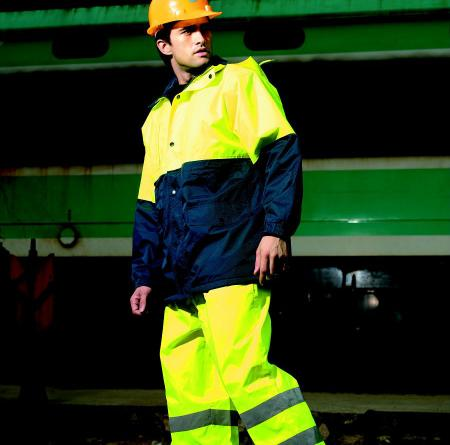 HI-VIS POLAR FLEECE LINED JACKET