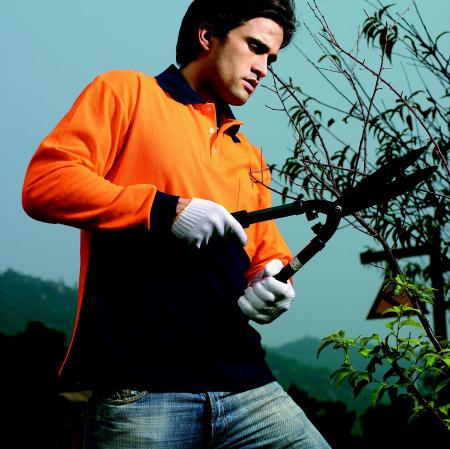 HI-VIS POLY/COTTON POLO -LONG SLEEVE