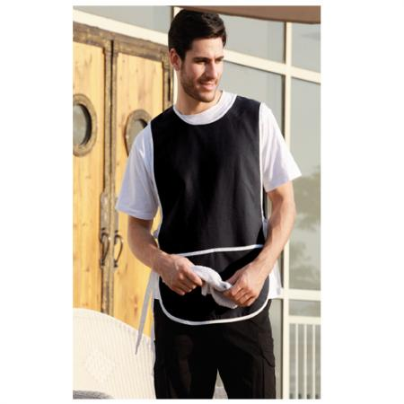 POLYESTER DRILL POPOVER APRON -WITH POCKET