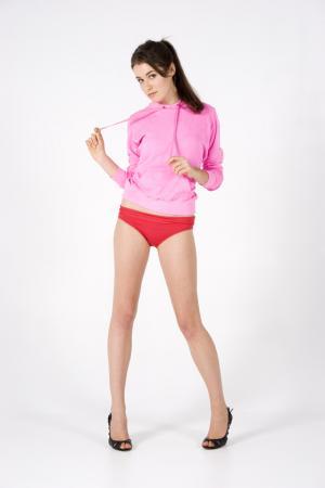 Ladies/Juniors zip fluoro hoodie