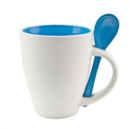 Ceramic Mug & Spoon Set