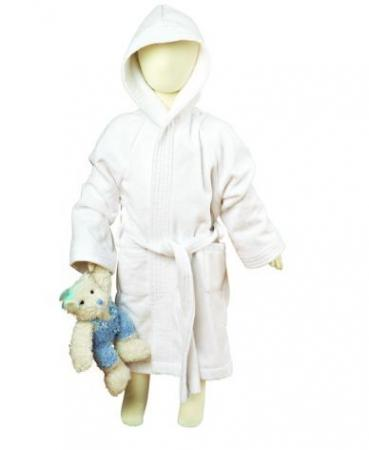 Kids Velour white bath robe