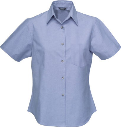 Ladies Chambray Shirt - Short Sleeve
