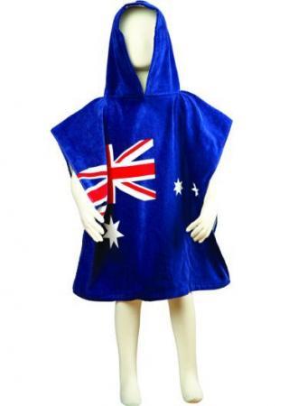 Aussie flag kids poncho