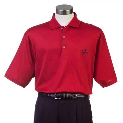 Mens Solid Mercerised Polo