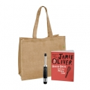 Jamie Oliver Cookbook With Bbq Lighter And Jute Bag