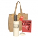 Jamie Oliver Cookbook With Pasta Set & Jute Bag