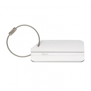 Brushed Aluminium Luggage Tag/Wire Strap