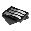 Sienna Stainless Steel Cheese Set