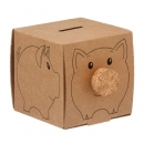 Recycled Carboard Piggy Bank
