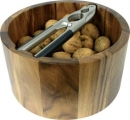 Nut Cracker With Acacia Wood Bowl