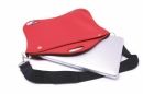 NEOPRENE LAPTOP SLEEVE WITH ZIPPER CARRY HANDLE AND STRAP